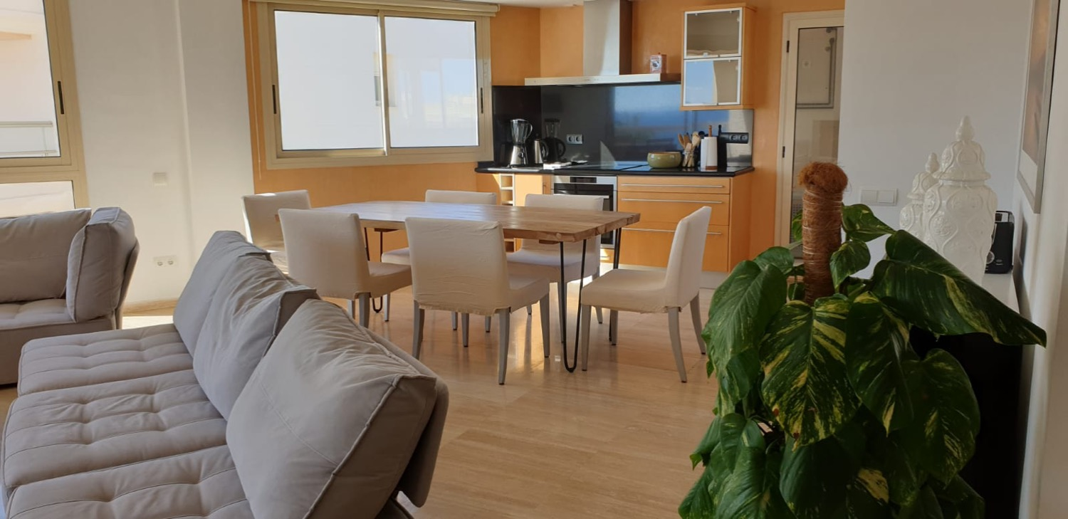 Modern 3 bedroom penthouse with fabulous sea views and rooftop terrace for sale in Playa d'en Bossa